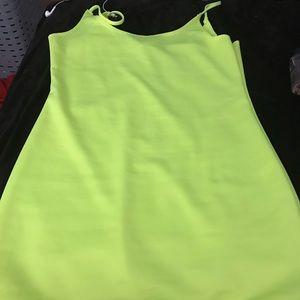 Highlighter Green Dress